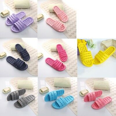 Men Women's Soft Bottom Hollow Out Anti-slip Shower Bathroom Home Daily Slippers