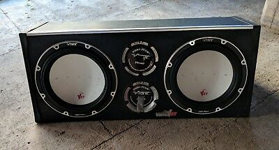 "Vibe Space Vented 12"" inch Dual Twin Car Audio Subwoofer 2000W"