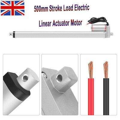 12V 500mm Electric Motor Linear Actuator Stroke Heavy Duty Load Lifting