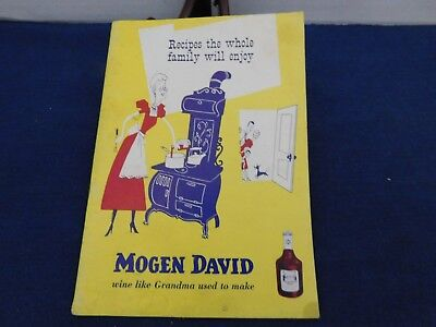 Recipes the Whole Family Will Enjoy 1950s booklet Mogen David Wine Corp Chicago