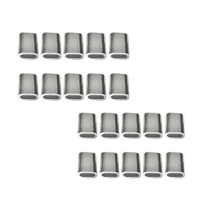 Blesiya 20Pcs Aluminum Cable Ferrule Wire Rope SNARE WIRE 3mm and 4mm