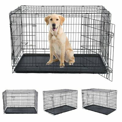 Hundebox Transportbox Hundetransportbox Reisebox Käfig 123x82.5x77CM XXL