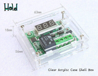 1* Easy to assemble Clear Acrylic Case Shell Box Kit of W1209 Thermostat