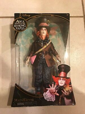 Mad Hatter Doll Disney Alice In Wonderland Through the Looking Glass new