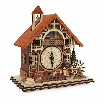 Timber framed Swiss Style House Clock incorporating music box (can cuckoo ...