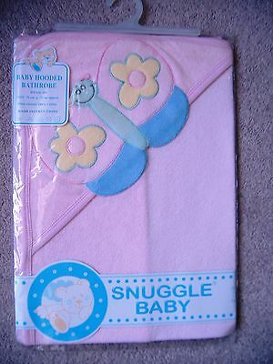 2 Snuggle Baby Hooded  Bathrobes  In Pale  Pink ~ New In Packs