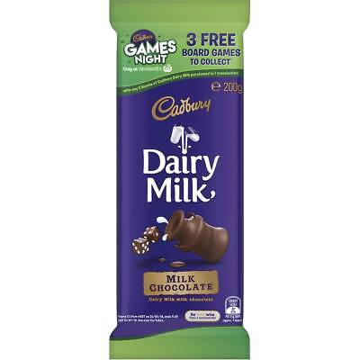3x Cadbury Dairy Milk Chocolate Fair Trade 200g block