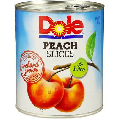 6x Dole Peach Slices In Juice 810g