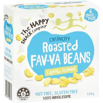 3x The Happy Snack Company Fav-va Beans Lightly Salted 6x25g