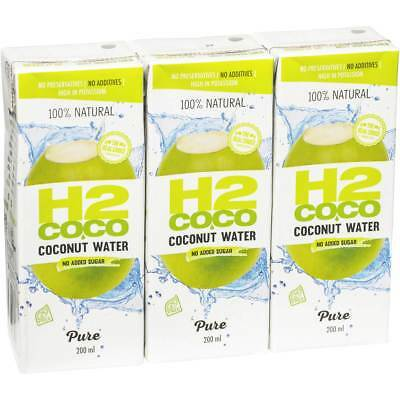 6x H2coco Pure Coconut Water 3x200ml