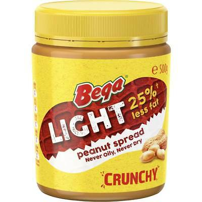 3x Bega Light Peanut Butter Crunchy 500g