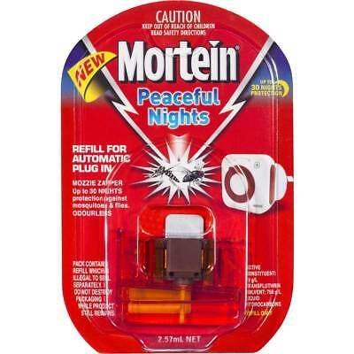 3x Mortein Peaceful Nights Automatic Plug In Refill each