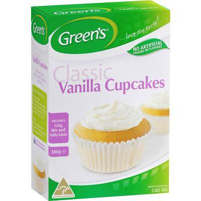 3x Greens Cupcake Mix Vanilla 380g