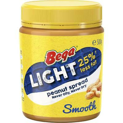 3x Bega Light Peanut Butter Smooth 500g