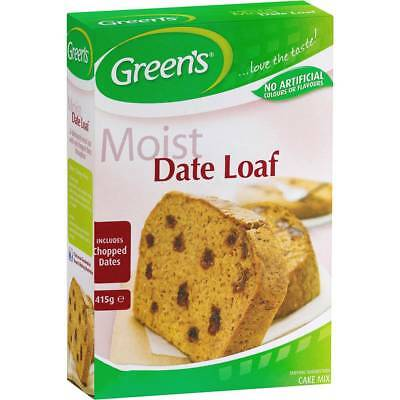 3x Greens Cake Mix Traditional Date Loaf 415g