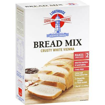 3x Lighthouse Crusty White Vienna Bread Mix 1.2kg