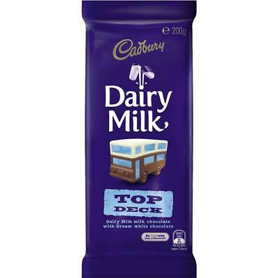 3x Cadbury Dairy Milk Chocolate Top Deck 200g block