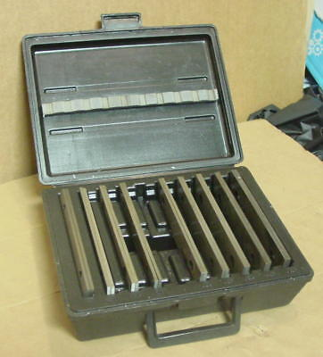 "Incomplete Machinist 1/8"" x 6"" Parallel Bar Set in Plastic Case, Missing 1-inch"