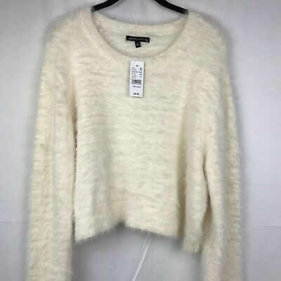 dbe2f35e59 PACSUN Kendall & Kylie Women Top Sweater Blouse Ivory Size Large long  Sleeve NEW