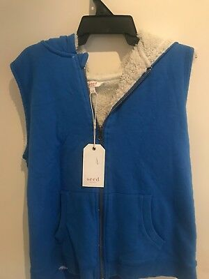 SEED RRP$49.95 Boys Fur-Lined Vest Size 9-10 BRAND NEW WITH TAGS ATTACHED