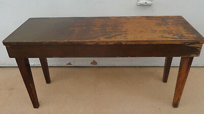 Vintage, Mid Century, Retro, 2 Seat, Piano Stool, With Lift Up Lid.  Solid
