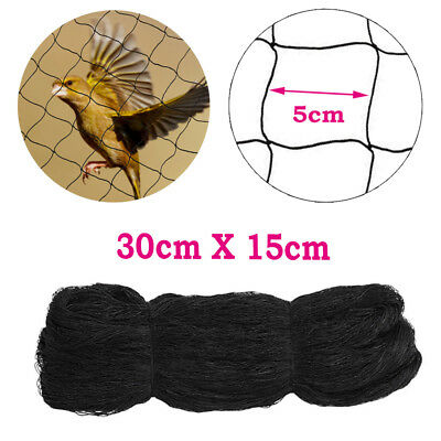 30 x 15M Width BLACK Commercial Knitted Anti Bird Netting Pest Net Brand New AU