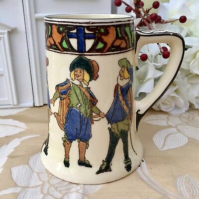 ROYAL DOULTON c1950s TANKARD NEW CAVALIERS SERIES D4749 MUSKETEERS - COLLECTABLE