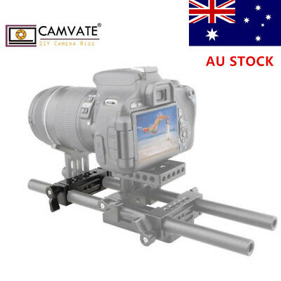 AU CAMVATE Rod Clamp 15mm Railblock for DSLR Rail Rig Support System Top Handle