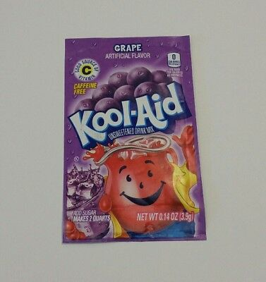 5 x USA GRAPE KOOL AID UNSWEETENED DRINK MIX 3.9g - Fast & Free post -
