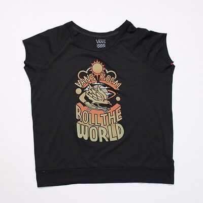 cc026a10108cb Men s Vans Roll The World T-Shirt Tank Top Black Size L