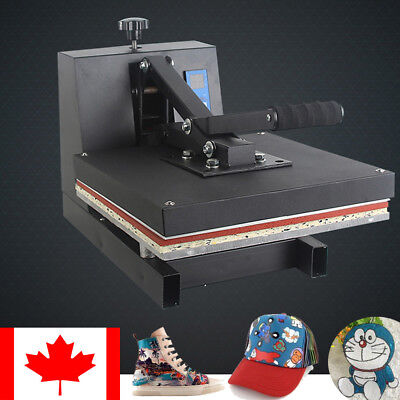 "15""X15""Digital Clamshell Heat Press Transfer T-shirt Sublimation Machine 2018"