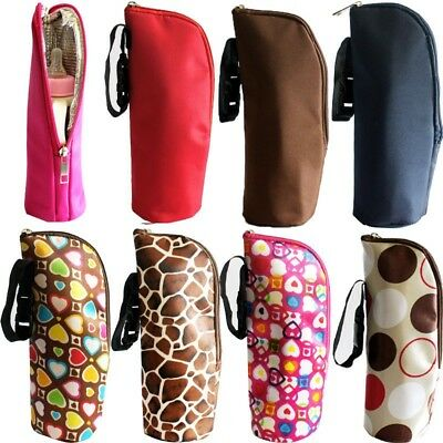 Portable Baby Bottle Tote Bag Nursing Bottle Cooler Warmer Insulated Hanging Bag