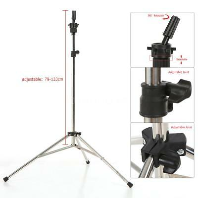 """52"""" Adjustable Tripod Stand Salon Hairdressing Mannequin Training Head Hold F5L0"""