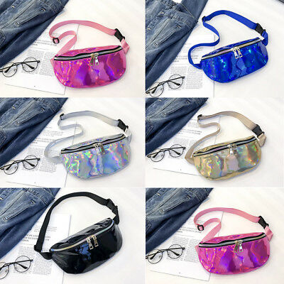 Women Fanny Pack Purse One Shoulder Waist Chest Bag Hip Bag Punk Sports AU STOCK