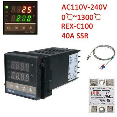 0℃~1300℃ Alarm REX-C100 Digital LED PID Temperature Controller Kits AC 110V/220V