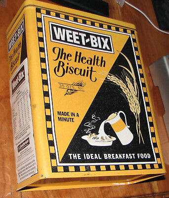 Weetbix Tin Box Can Vintage looking.