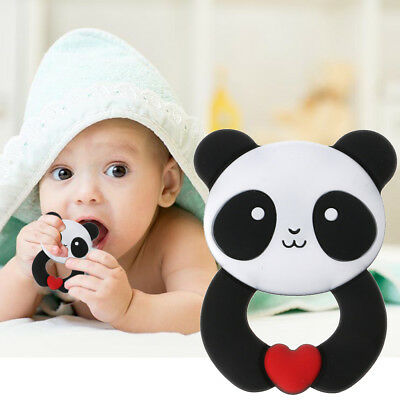 Panda Baby Teethers Pendant Necklace Accessory BPA Free Silicone Chew Toys Cute