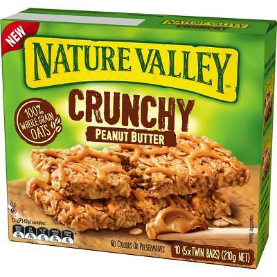 6x Nature Valley Muesli Bars Crunchy Peanut Butter 210g