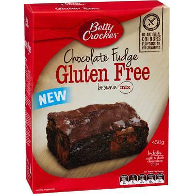 6x Betty Crocker Gluten Free Chocolate Fudge Brownie Mix 450g