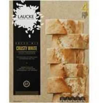 6x Laucke Crusty White Bread Mix 2.4kg