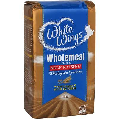 6x White Wings Self Raising Flour Wholemeal 1kg