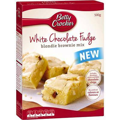 6x Betty Crocker White Chocolate Fudge Brownie Mix 500g