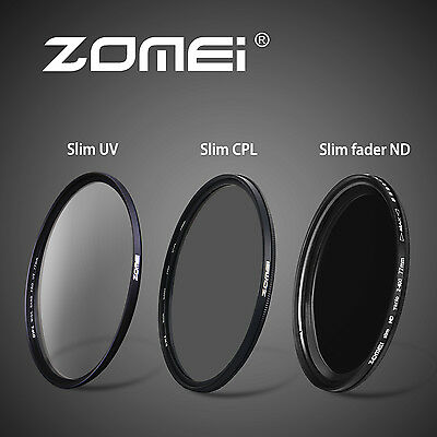 Zomei 67mm filters set slim UV&CPL&ND filters for DSLR camera Novice Essentials