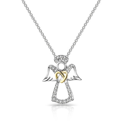 Guardian Angel Necklace Created with Swarovski® Crystals by Philip Jones