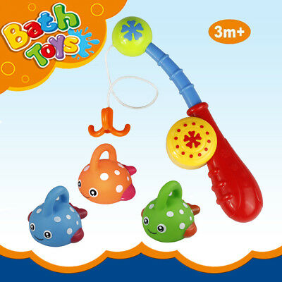 Bath Toys Bathtub Fun Toys Fishing Game with Cute Spotted Fish and Fishing Rod