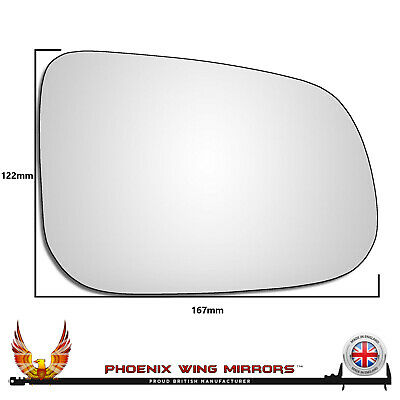 Right Hand Drivers Side Volvo S80 2006-2016 Convex Wing Door Mirror Glass