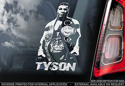 Mike Tyson - Car Window Sticker - Boxing Champion Sign - Iron Mike TYP2