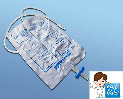 Urinbeutel 2000 ml, Ablass Urindrainage System  90 cm PZN 06643093 Dahlhausen