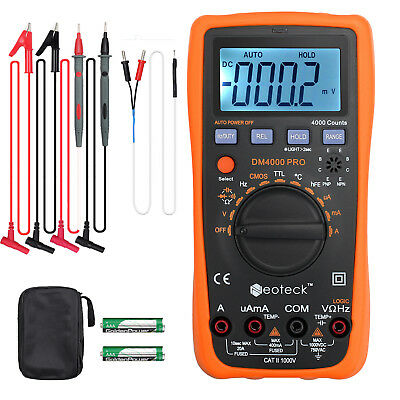 Handheld Digital Multimeter AC/DC Voltage OHM Temp Digital Multimeter Ohmmeter