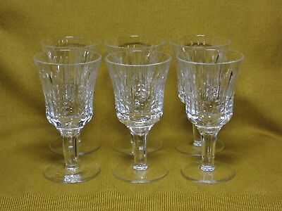 Vintage USSR  1970s Russian crystal wine glasses 6 pcs  factory Gus-Khrustalny